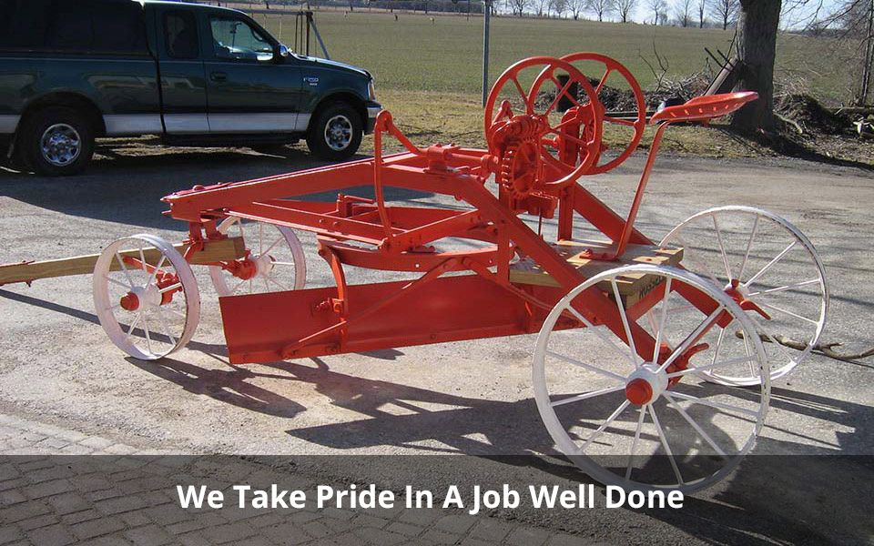 We Take Pride In A Job Well Done | Antique wagon