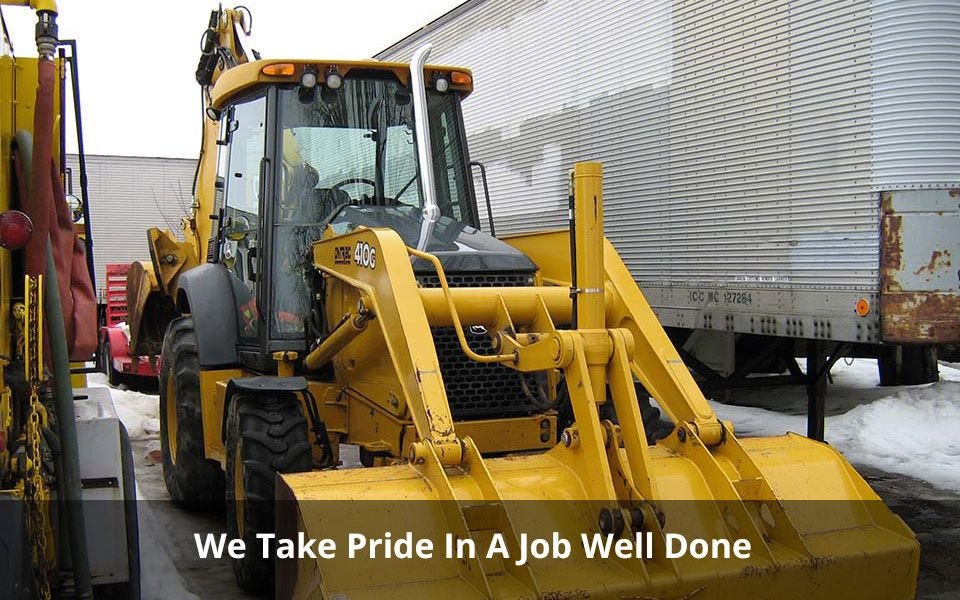 We Take Pride In A Job Well Done | Excavator